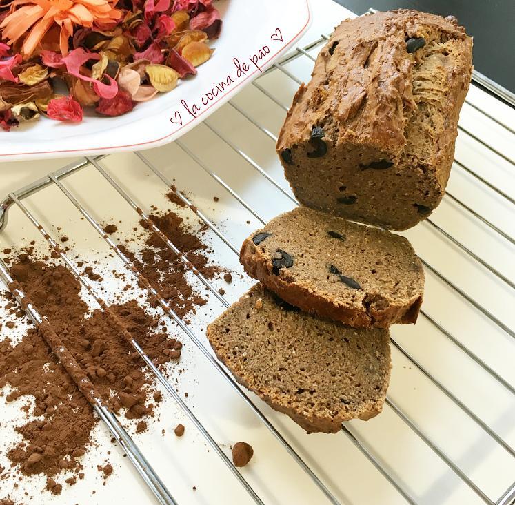 Pan de cacao y aceitunas negras gluten free