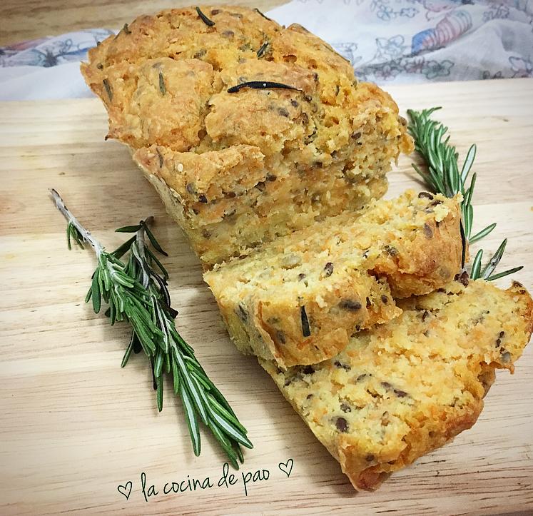 Pan de zanahoria y romero sin gluten