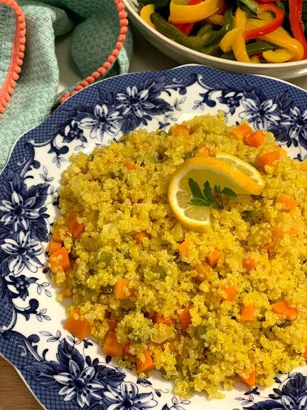 Quinoa con azafrán y verduritas