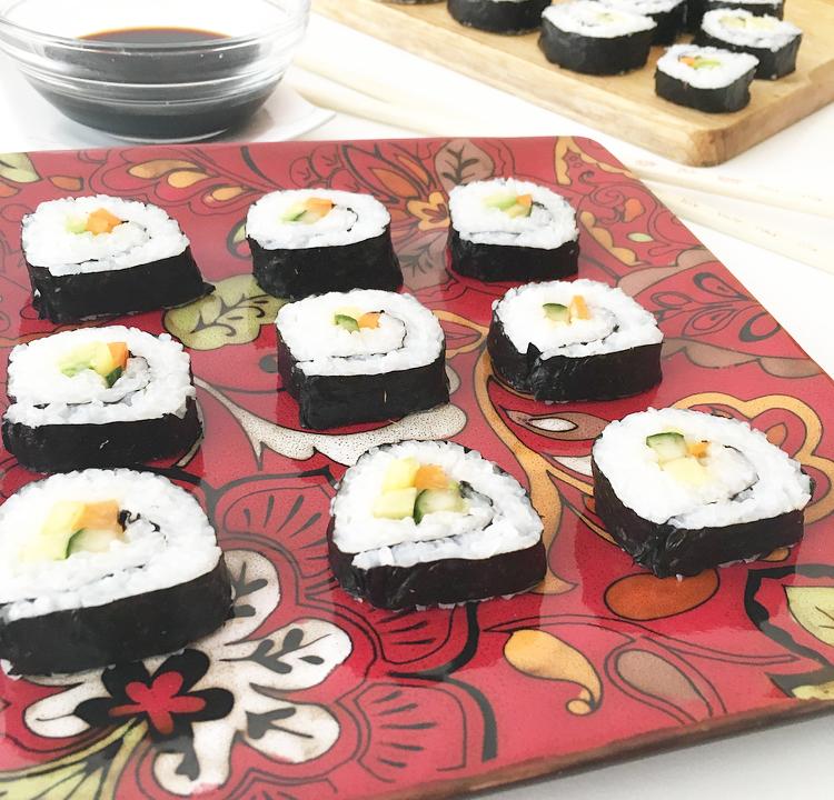 Mi día de sushi en casa con relleno marinado