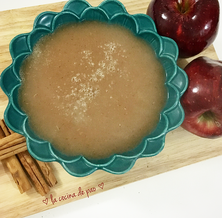 Salsa de manzana como sustituto del huevo