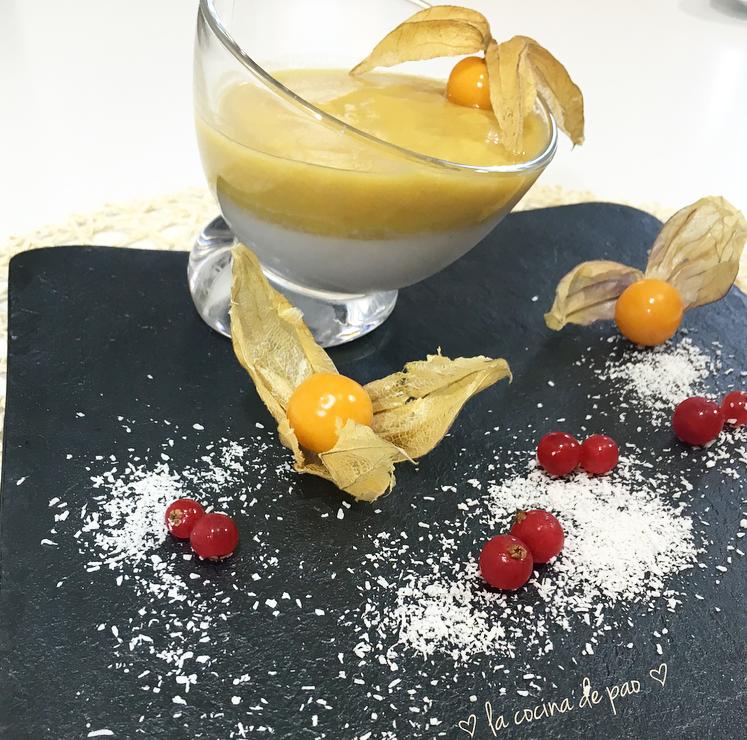 Crema suave de mango y coco
