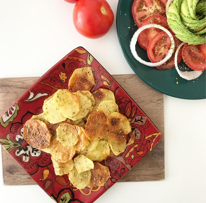 Patatas chips con especias