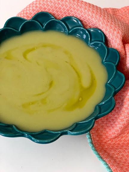 Crema verde para cenar